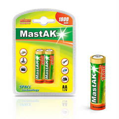 Аккумуляторы MastAK R 06/2bl 1800mAh Ni-MH