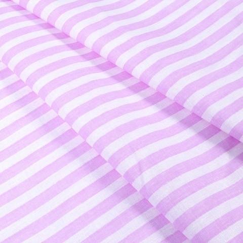 Бязь плательная 150 см 1552/18А цвет розовый/белый