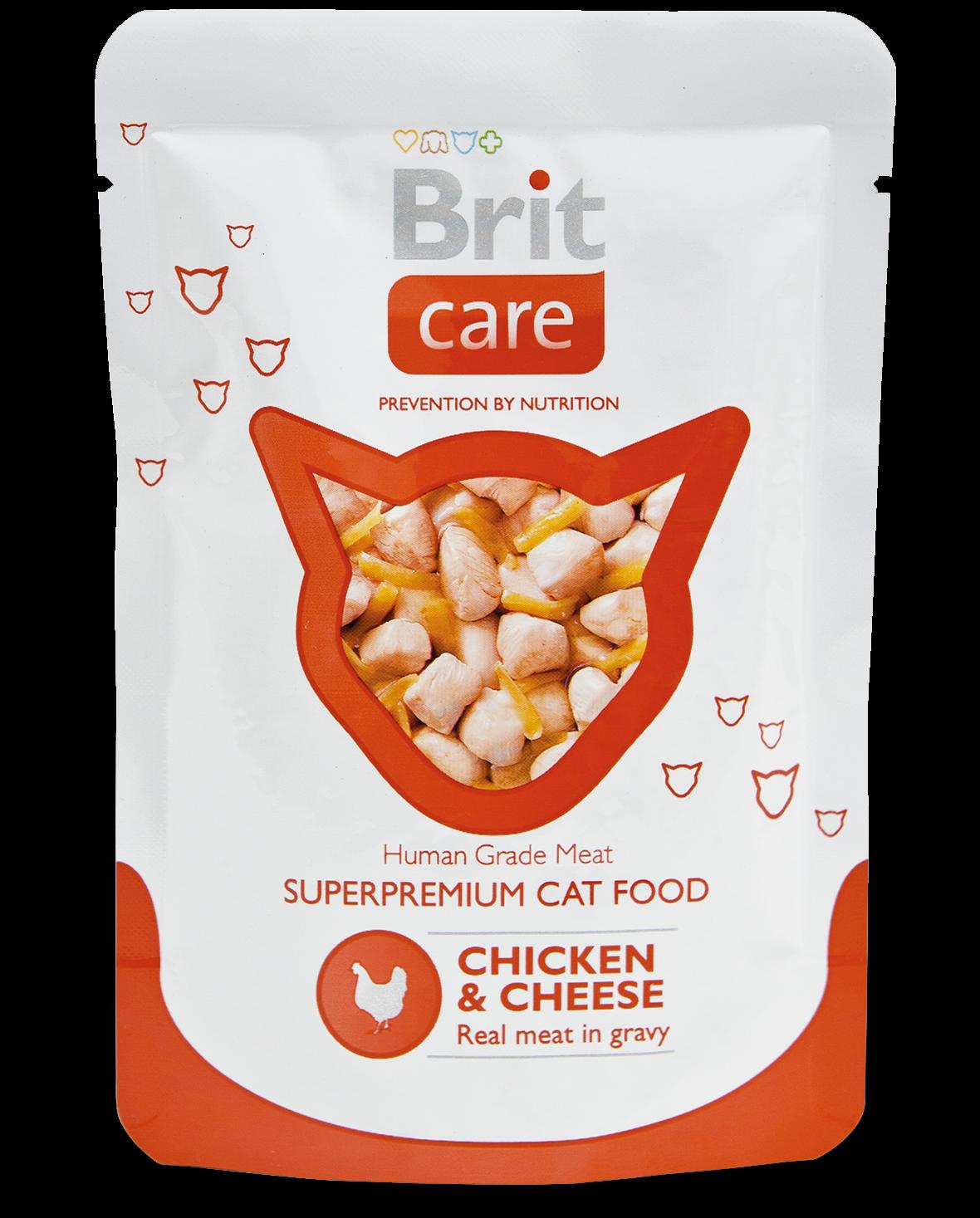 """Влажные корма Пауч для кошек, Brit Care Cat, """"Курица и сыр"""" кэа_ку_сыр.png"""