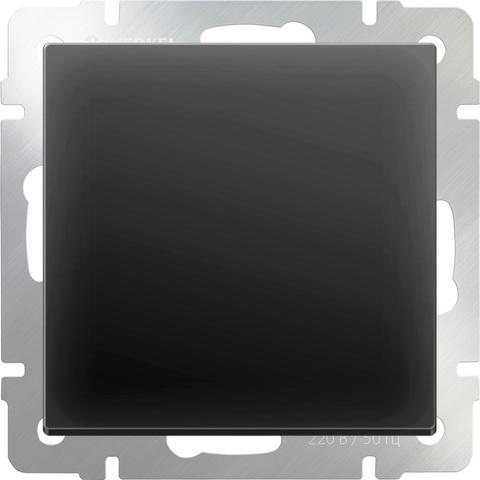 Werkel Выключатель W1112008 (WL08-SW-1G-2W) черный матовый  (1-кл. прох)