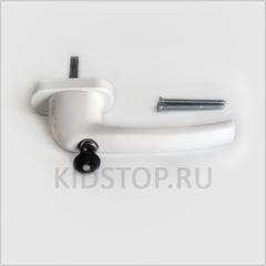 Оконная ручка с ключом белая