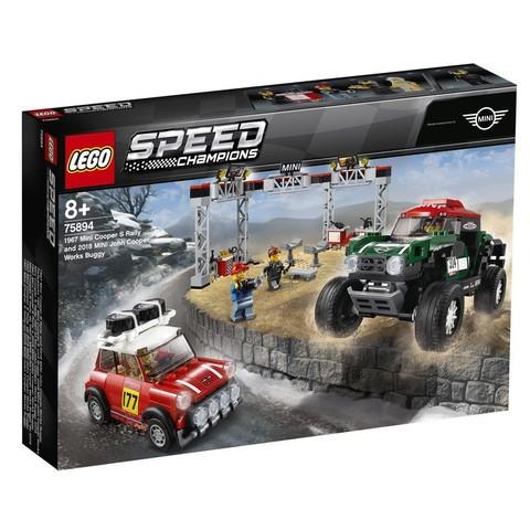 LEGO Speed Champions: Мини Купер 1967 и Мини Купер 2018, 75894 — 1967 Mini Cooper S Rally and 2018 MINI John Cooper Works Buggy — Лего Спид чампионс Чемпионы скорости