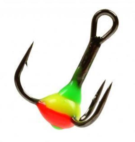 Крючок-тройник с каплей Lucky John, размер №10, цвет 11