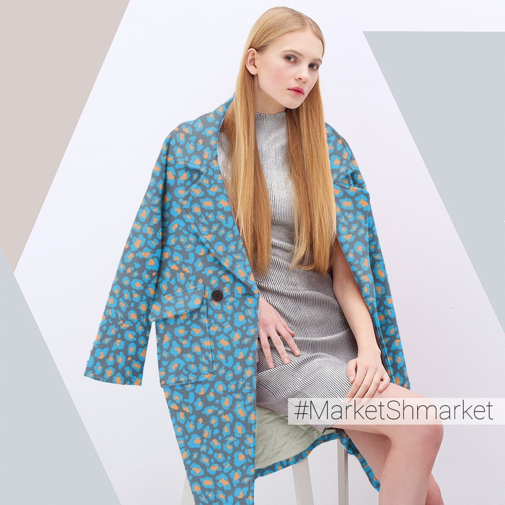 синий леопард