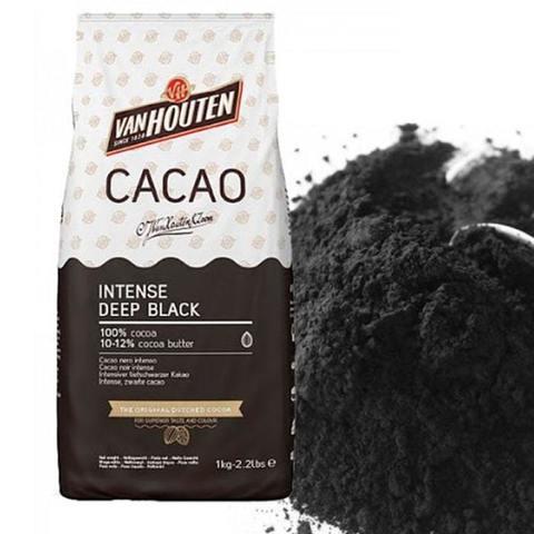 Какао-порошок чёрный алкализованный Van Houten Intense Deep Black, 100г.