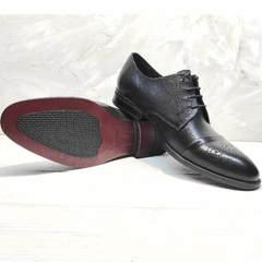 Мужские классические туфли броги Ikoc 2249-1 Black Leather.