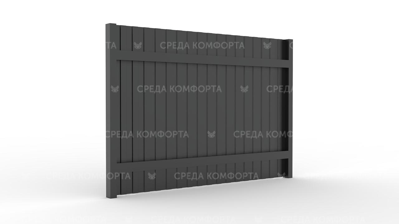 Забор из профлиста 2500х2000 мм ZBR0018