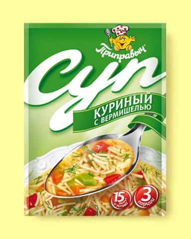 """Суп """"Приправыч"""" куриный с вермишелью 60 г"""