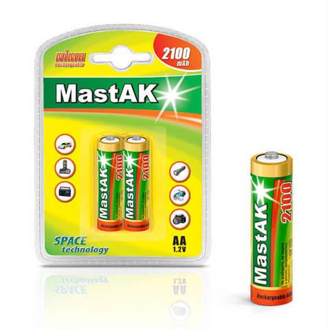 Аккумуляторы MastAK R 06/2bl 2100mAh Ni-MH