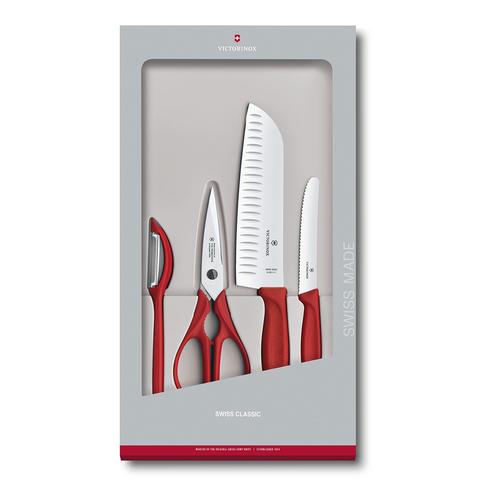 Набор Victorinox кухонный, 4 предмета, красный (подарочная упаковка)