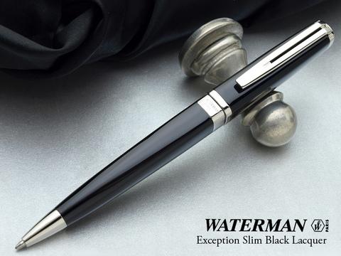 Шариковая ручка Waterman Exception, цвет: Slim Black ST, стержень: Mblue123