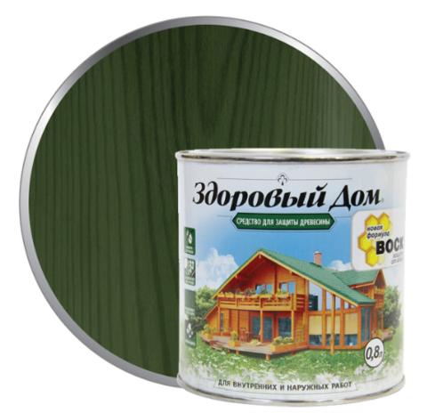 Пропитка Здоровый Дом еловая зелень 10 литров