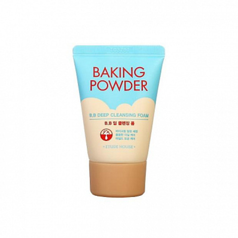 Etude House Baking Powder BB Deep Cleansing Foam пенка с содой для удаления ББ-крема