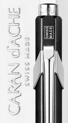 Carandache Office 849 Pop Line - Metallic Black, шариковая ручка, M
