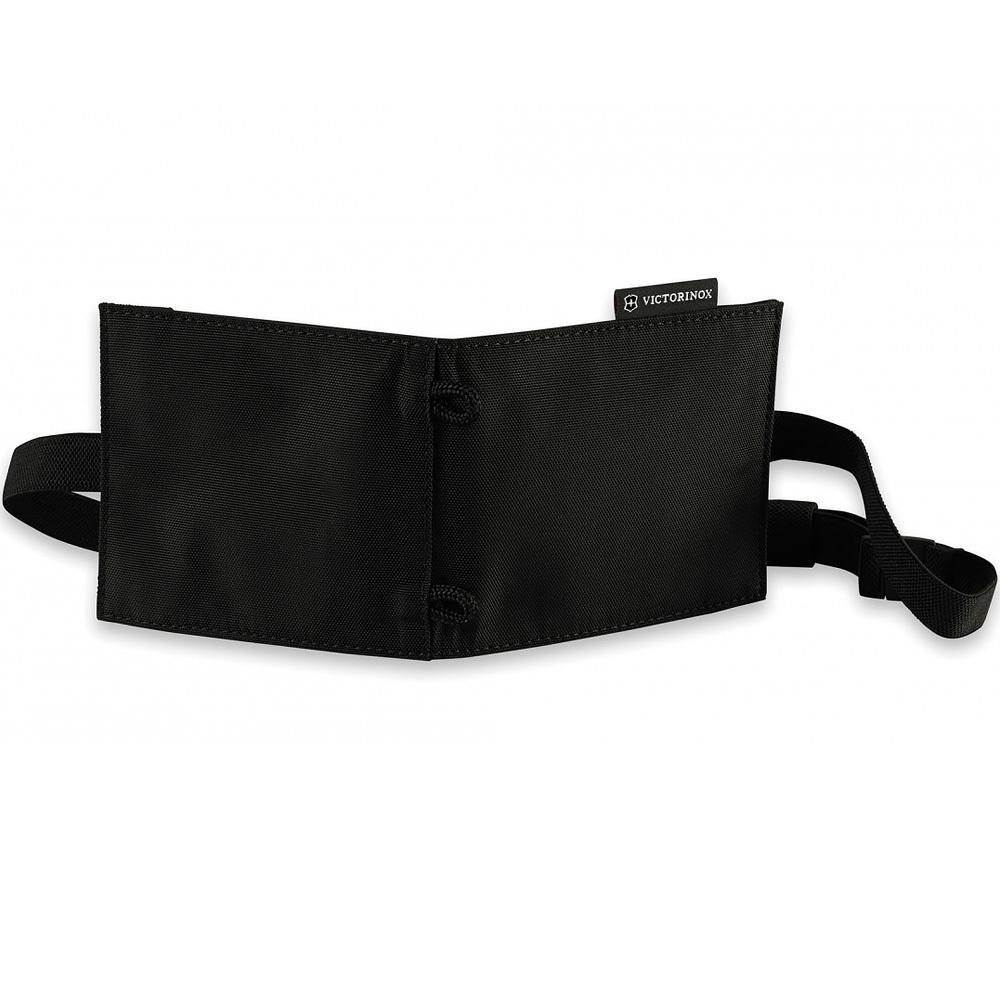 Нашейный кошелёк Victorinox Convertible Travel Wallet с возможностью ношения в 3 положениях, чёрный, нейлон 800D, 13x1x11 см. (31172001) | Wenger-Victorinox.Ru