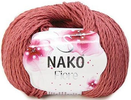 Пряжа Nako Fiore роза 11236