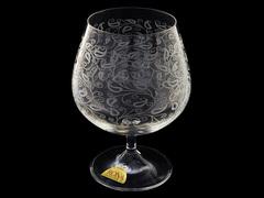 Набор бокалов для бренди и коньяка Белое кружево, 6 шт., 400 мл, стекло, Rona, фото 1
