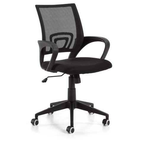 Поворотное кресло Ebor черное