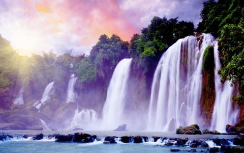 Алмазная Мозаика 40x50 Невероятной красоты водопад