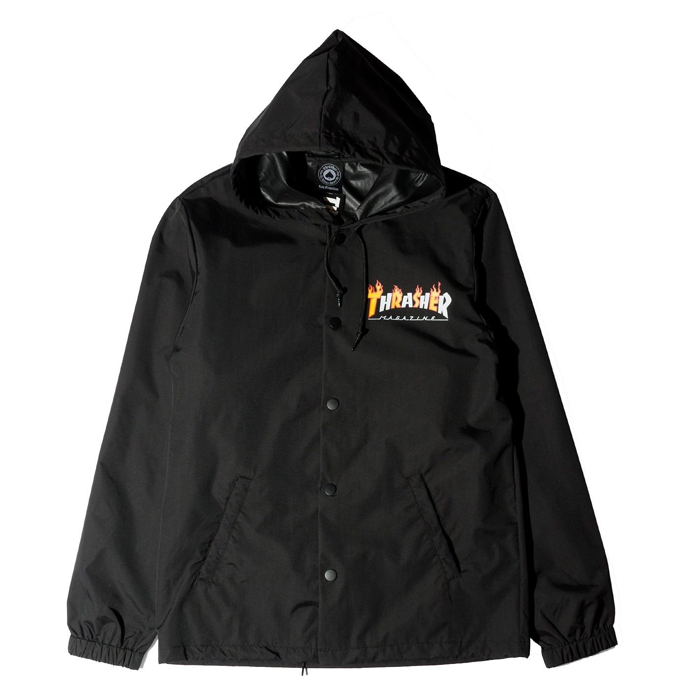 Куртка THRASHER Flame Mag Coach Jacket (Black)