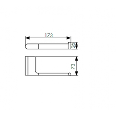 Держатель для туалетной бумаги KAISER Franco BL KH-2720 схема