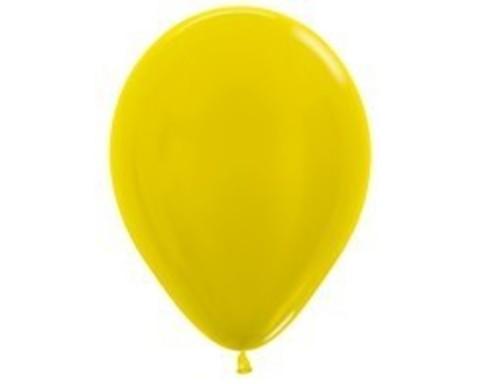 Шарики желтые (металлик)