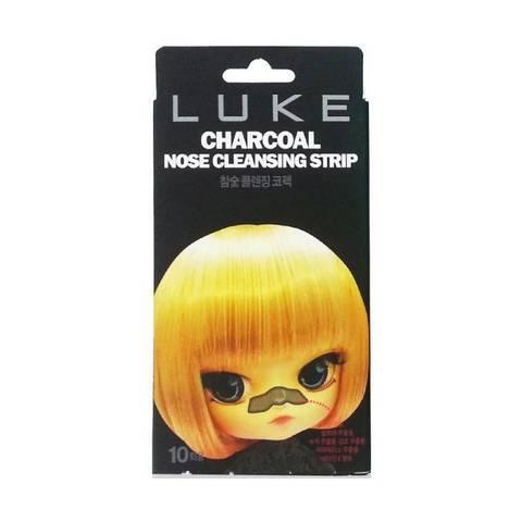 Очищающие угольные полоски Hanwoong Luke Charcoal Nose Cleansing Strip от черных точек 10 шт