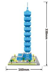 Конструктор Wisehawk & LNO Тайбэй 101 небоскрёб Тайвань 1163 детали NO. 2466 Taipei 101 Gift Series