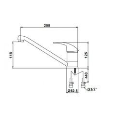 Смеситель KAISER Magistro 14233 хром для кухни схема