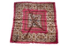 Шерстяной женский красный платок (0053 PLATOK 8)