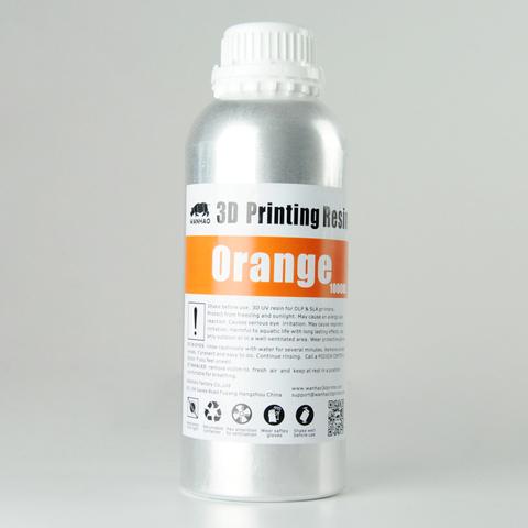 Фотополимер Wanhao Standard Resin, оранжевый (1 л)