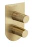 Встраиваемый термостатический смеситель для душа TZAR 348712SOC золотой, на 2 выхода - фото №1