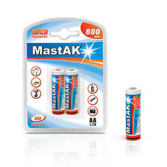 Аккумуляторы MastAK R 06/2bl 800mAh Ni-CD