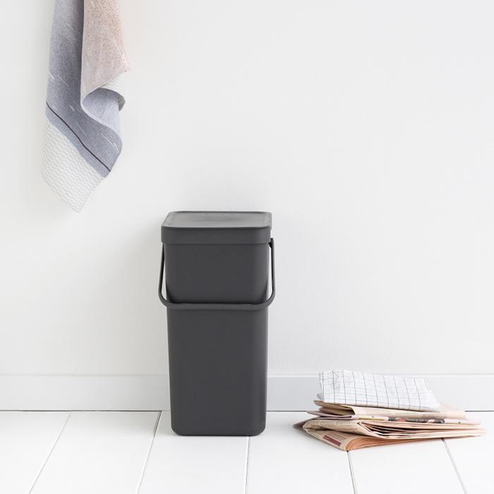 Встраиваемое мусорное ведро Sort & Go (16 л), Серый, арт. 109966 - фото 1