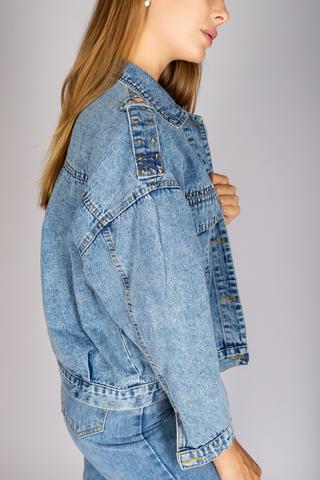 Классическая джинсовая куртка женская оптом