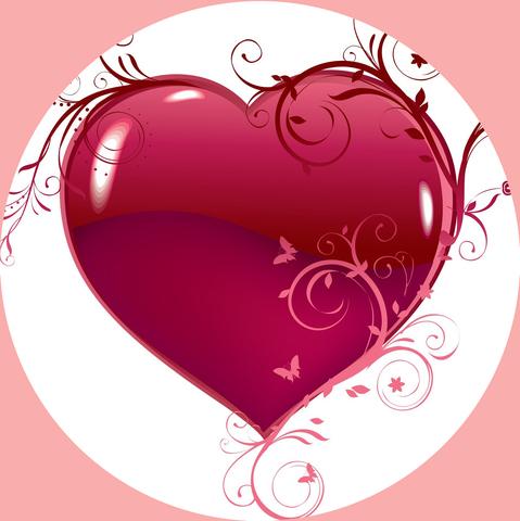 Печать на сахарной бумаге, День Влюбленных 8
