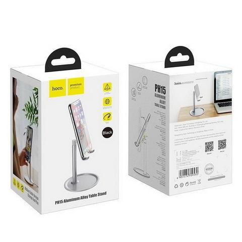 Держатель настольный для телефона и планшета HOCO PH15 Aluminium Alloy (4.7-15