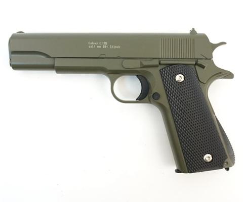 Страйкбольный пистолет Galaxy G.13G Colt 1911 black металлический, пружинный