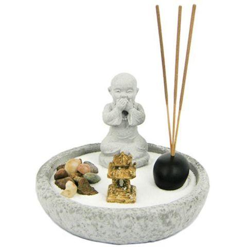 Садик Дзен Будда  13 см, искусственный камень