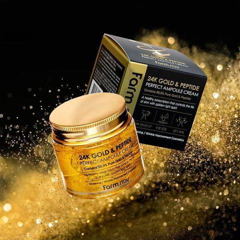 Ампульный крем с золотом и пептидами FarmStay