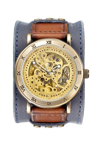 Часы скелетоны мужские механические Wild West YOURTIME