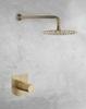 Встраиваемый смеситель для душа с душевым комплектом TZAR K3418012OC золотой, на 1 выход - фото №2