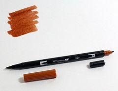 Маркер-кисть Tombow ABT Dual Brush Pen-947, сиена жженая