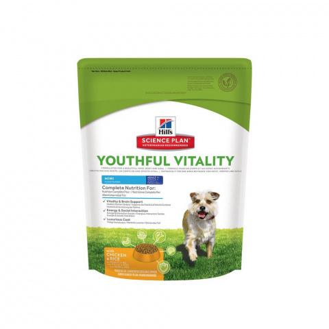 Hill's Science Plan  сухой корм для собак мелких пород старше 7 лет, курица и рис Youthful Vitality