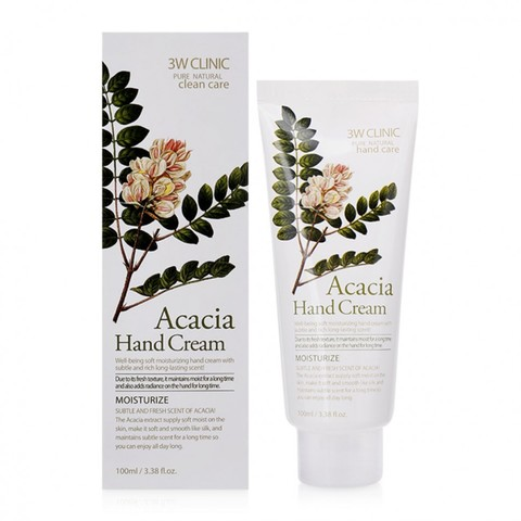 Крем для рук АКАЦИЯ 3W CLINIC Acacia Hand Cream, 100 мл
