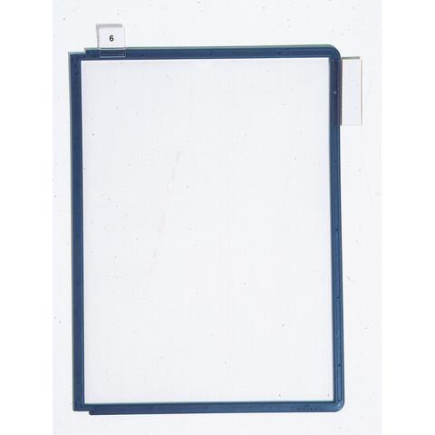 Панель для демосистемы Durable Sherpa А4 синяя (5 штук в упаковке)