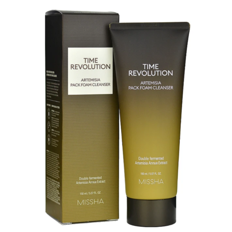 Missha Time Revolution Artemisia Pack Foam Cleanser очищающая пенка-маска для лица