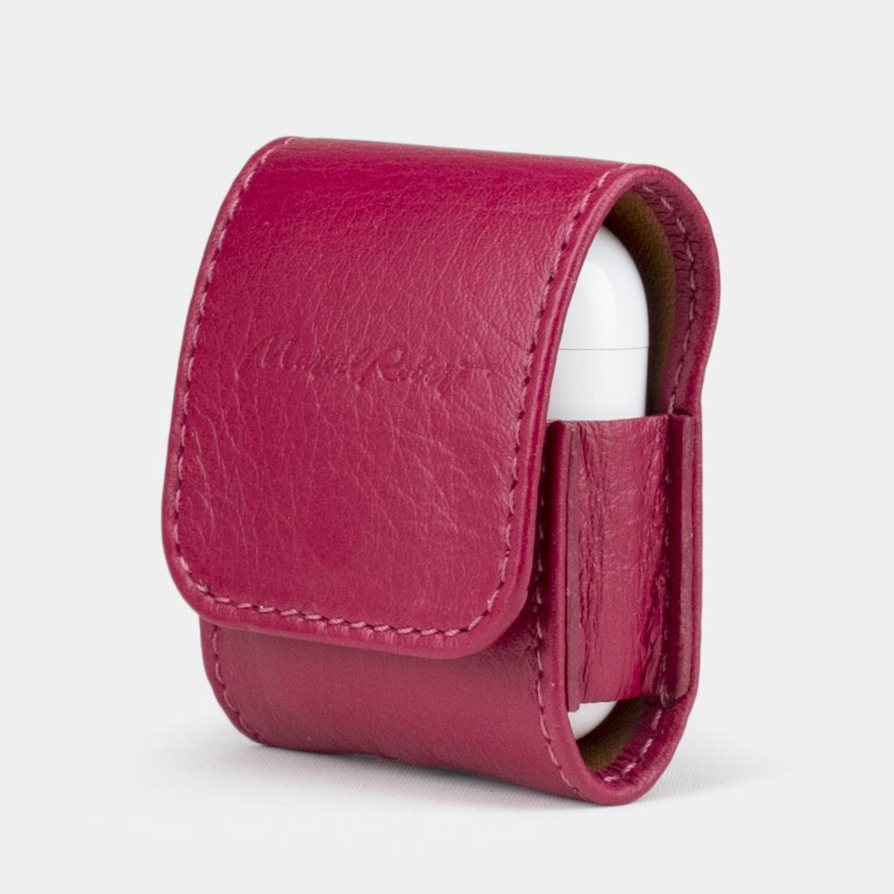 AirPods leather case - fushia