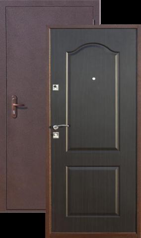 Дверь входная СтройГост Стройгост 5-1, 2 замка, 1 мм  металл, (медь антик+венге)