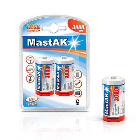Аккумуляторы MastAK R 14/2bl 3000mAh Ni-CD